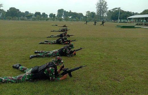 Prajurit Yonif MR 413 Kostrad Tetap Berlatih Tunjang Tugas Operasi Pamtas RI-PNG