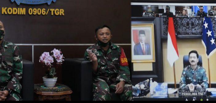 Gelar Video Conference Penanganan Covid-19, Panglima TNI Sapa Babinsa Serda M. Nurdin