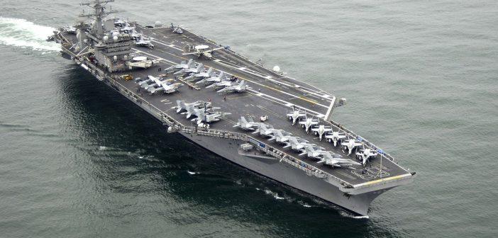 Insiden Menakutkan, Rudal Iran Jatuh 100 Mil dari Kapal Induk USS Nimitz