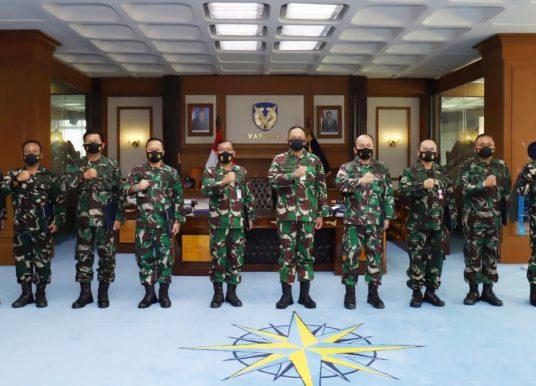 Marsekal Fadjar Terima Laporan Kenaikan Pangkat 9 Pati, Di Antaranya Marsda TNI Hari Mursanto sebagai Koorsahli KSAU
